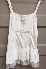 Free People Bohemian Lacy Silk Cami Lingerie Style Top Sz Small Medium EUC