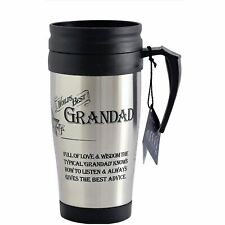 Travel Mug World's Best Grandad Insulated 400ml Cup Gift For Grandfather Boxed