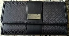 """TOMMY HILFIGER Est 1985 Black Trifold Wallet 7"""" x 4"""" Like New Authentic"""