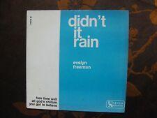 EP EVELYN FREEMAN - Didn't It Rain+3 / United Artists 36 041 M  France  (1964)