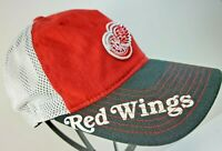 NHL Detroit Red Wings Multi-Color Mesh Back Flexfit Fitted Hat By Reebok S/Med