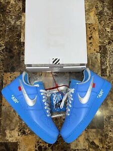 Size 10.5 Air Force 1 Low Off-White MCA University Blue
