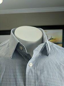 Charles Tyrwhitt non iron cotton slim fit shirt, 16 x 35 checked