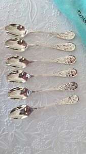 Tiffany & Co Sterling Silver Audubon afternoon 5 o'clock teaspoons set of 6