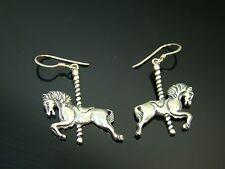 Sterling Silver Carousel Horse Earrings Wire Hook