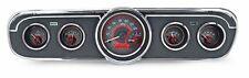 1965-66 Ford Mustang Dakota Digital Carbon Fiber & Red VHX Gauge Kit