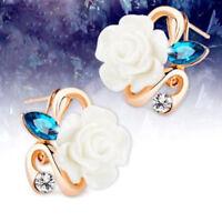 Flower Ear Clip Ear Jewelry For Girls Miss Gift Rose Earrings Ear Stud