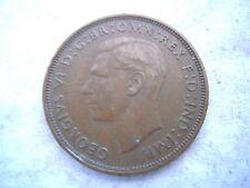 1938 KING GEORGE VI BRONZE PENNY COIN, Nice Original Patina, Nice Coin