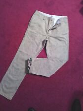 NEW Burton STREET FIT 100% cotton pants 4-button fly  Size 32  CAMO PRINT INSIDE