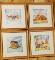 Disney's Winnie The Pooh Four Seasons Residents 100 Acre Wood Set 4 Wood Famed