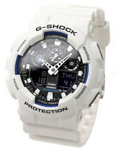 Casio Men's G-Shock White Resin Quartz Watch GA100B-7A
