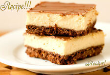 "☆Chocolate & Peanut Butter Cheesecake Bars ""RECIPE""!☆""Dessert Nirvana""!☆"