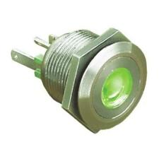 1 x Bulgin Push Button Switch MPI001/RP/GN, Panel Mount, Illuminated Green LED