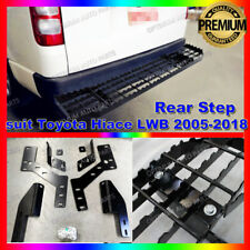 Black Rear Step Bumper Bar Protector to suit Toyota Hiace 2005-2019 (LWB ONLY)
