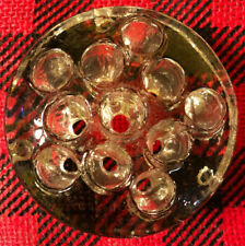Vintage Pressed Glass Flower Frog 11 Hole 3.5 Inch Crystal Clear Color