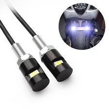 2PCS 12V LED 5630 SMD Car License Plate Screw Bolt White Light Motorcycle Lamp