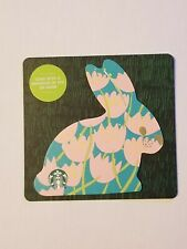 STARBUCKS Gift Card 2019 Die Cut Bunny Rabbit Tulips Floral Easter $0 Value