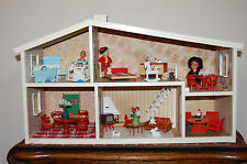 Vintage Lundby House Chimney with Wooden Furniture Sets & Accessories