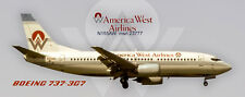 America West Airlines Boeing 737-300  Handmade Photo Magnet (PMT1645)