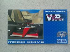 Virtua Racing Manual - Sega Mega Drive - NO GAME MANUAL ONLY
