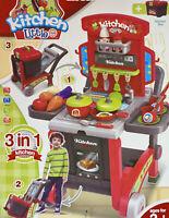 3 in 1 Kitchen Toy Playset Kitchen Box w/ Wheels - Unisex 3+ (US SELLER)