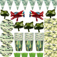 CAMOUFLAGE Birthday Party Tableware Decorations Supplies Military Army
