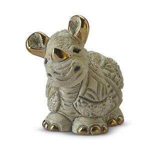 Rinconada De Rosa Baby White Rhino Calf Collectable Figurine Approx 7.5cm High