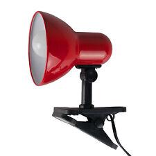 Modern Red  Black Metal Clip On Spotlight Table Desk Lamp Task Light Lighting