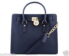 Michael Kors Bag 30S2GHMT3L MK Hamilton Large Leather North South Tote Navy S1