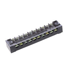 TB-1510 10 Positions Dual Rows Covered Screw Terminal Block 600V 15A GZ