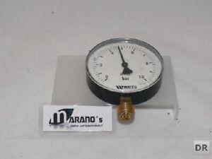 Watts Bourdon Tube Pressure Gauge/Manometer 0-10 BAR