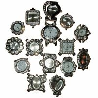 BUY 1,2,5 OR 10 WHOLESALE BEAD QUARTZ WATCH FACE FOR BEADING SILVER COLOUR WB01w
