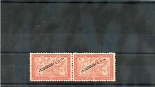 MOZAMBIQUE Sc 225(SG 307var)**VF NH PAIR 1920 11/2c/5c ONE W/BROKEN IN O IN OPT