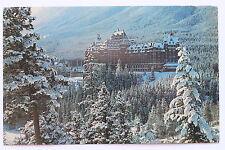 Postcard WINTER SCENE BANFF SPRING HOTEL, BANFF, ALBERTA, CANADA