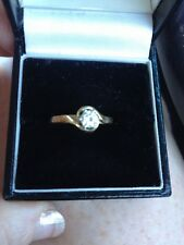 18ct Yellow Gold Diamond Solitaire Engagement Ring .30 Carat Diamond