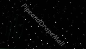 WeddingGeneral 3m x 6m LED Star Curtain with DMX Power Box -Black