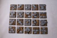 25mm square scenic resin paved bases Qty 10-50 unpainted by Daemonscape.com