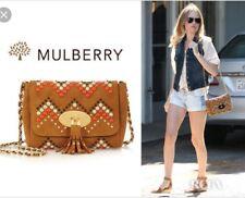 Mulberry Brown Leather Studded Zig Zag Large Lily Bag Handbag NO Tassel