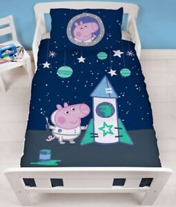 Official Peppa Pig Boom Reversible Bedding Set Junior Toddler Cot Duvet Gift