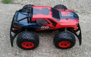 HUGE BIG WHEEL REMOTE CONTROL 10 INCH 20V RC MONSTER TRUCK (8+ Years) WORKING