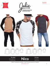 Jalie 3669 Nico Men's & Boys' Raglan Tee Shirt Short/Long Sleeve Sewing Pattern