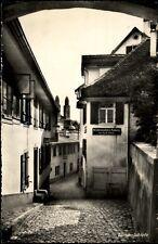 Zürich Schweiz Postkarte 1952 gelaufen Straßenpartie im Quartier Schipfe Häuser