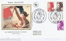 1982**ENVELOPPE**FDC 1°JOUR!!**LIBERTE.DELACROIX-DRAPEAUX**Y/T 2182.83.84