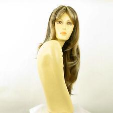 Perruque femme longue méchée blond clair méché cuivré chocolat DONNA 15613H4