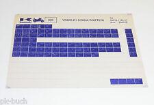 Microfich Ersatzteilkatalog Kawasaki  VN 800 Drifter Stand 11/2000