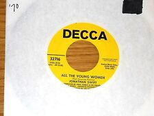 """PROMO 70s 45 RPM - JONATHAN SWIFT - DECCA 32716 - """"ALL THE YOUNG WOMEN"""""""