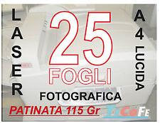 CARTA PATINATA LUCIDA  A4 , STAMPANTI LASER, RIVISTE VOLANTINI 115gr 25 FOGLI
