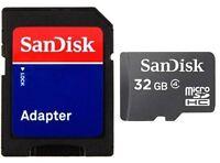 SanDisk 32GB microSD 32GB microSDHC micro SD 32G Class 4 SDHC Card C4 Bulk w/a