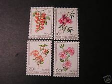 PAPUA & NEW GUINEA, SCOTT #228-231(4).1966 FLOWERS ISSUE. MNH