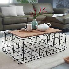 WOHNLING Couchtisch 92x36x61 cm Wohnzimmertisch Holz Massiv Tisch Sofatisch NEU